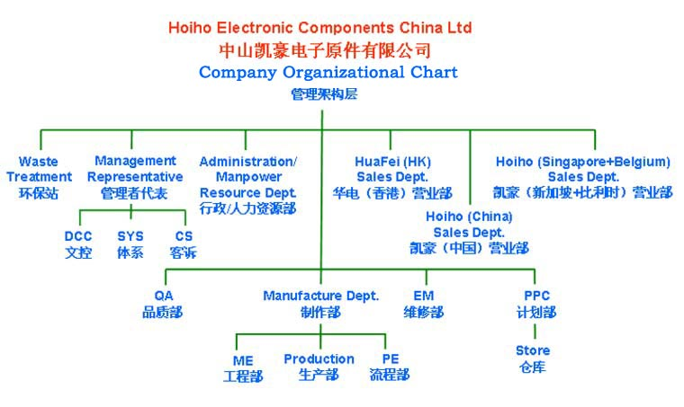 company structure chart